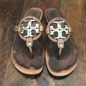 d627203e3 Tory Burch. Tory Burch Miller Sandals Tan Cognac Size 6.5